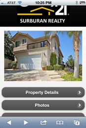 Century 21 Real Estate Demo - Mobile Site