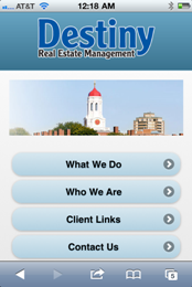 Destiny Real Estate Management - Full Mobile Site